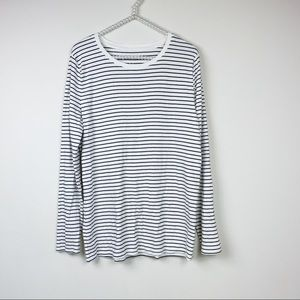 a new day long sleeve tee XXL white black striped